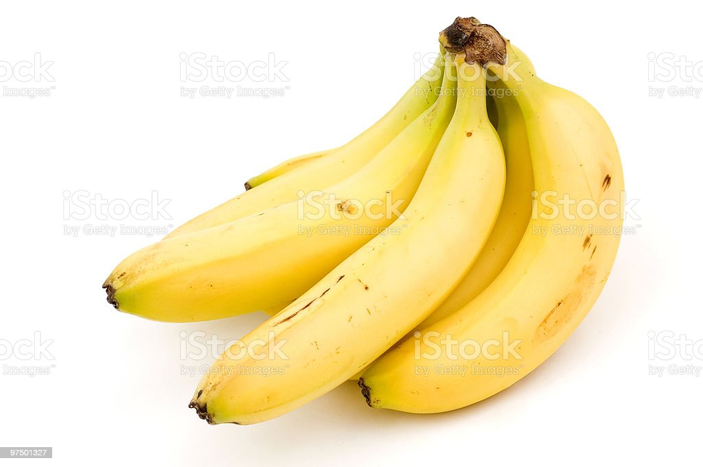Isolated Bananas royalty-free stock photo