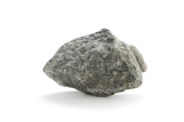 Isolated basalt rock on white  rock object stock pictures, royalty-free photos & images
