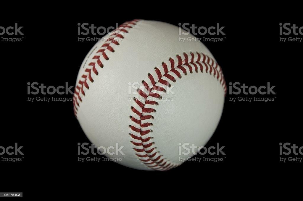 Isolated Baseball on Black royalty-free stock photo