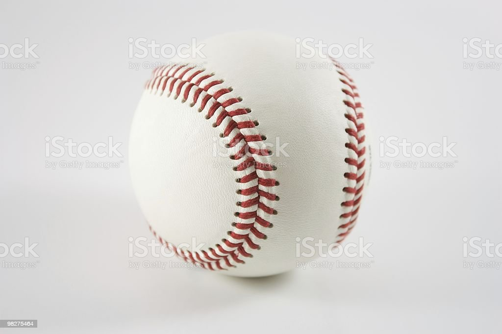 Isolato su bianco di Baseball foto stock royalty-free
