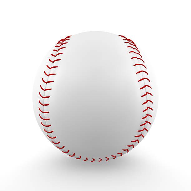 Isolated baseball stock photo