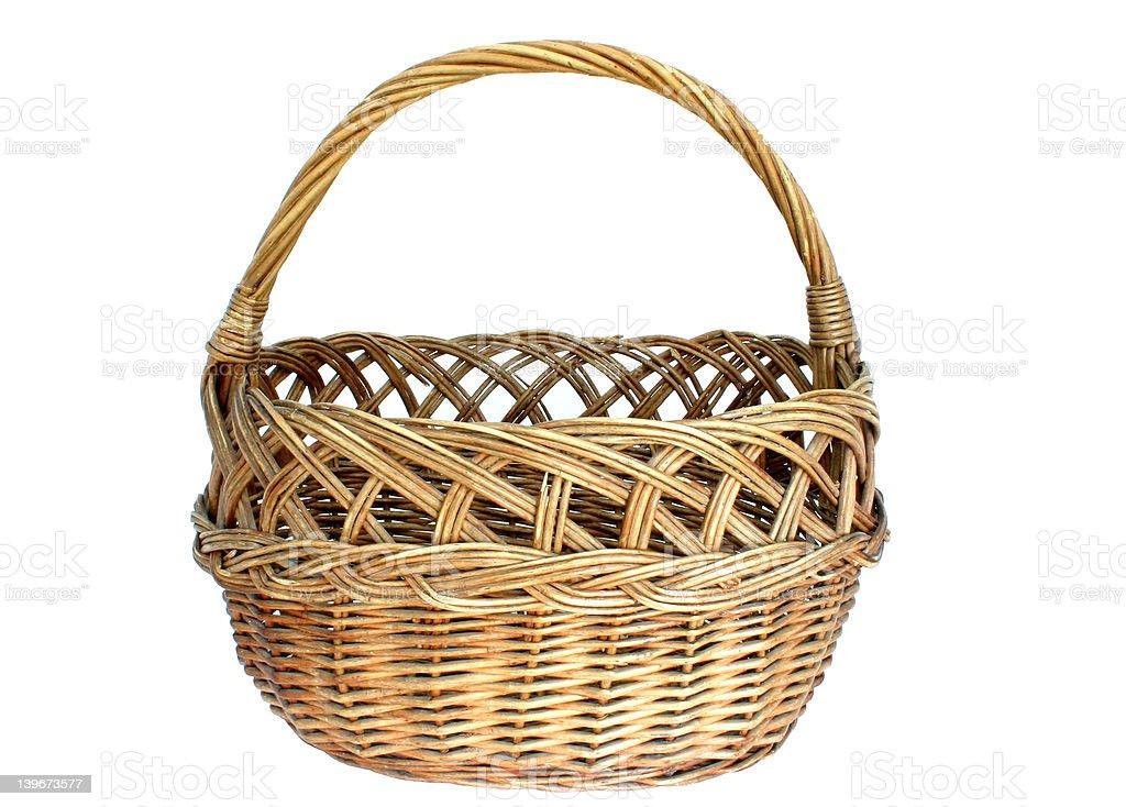 Isolated Basket royalty-free stock photo