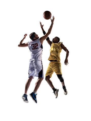 Isolated basketball player