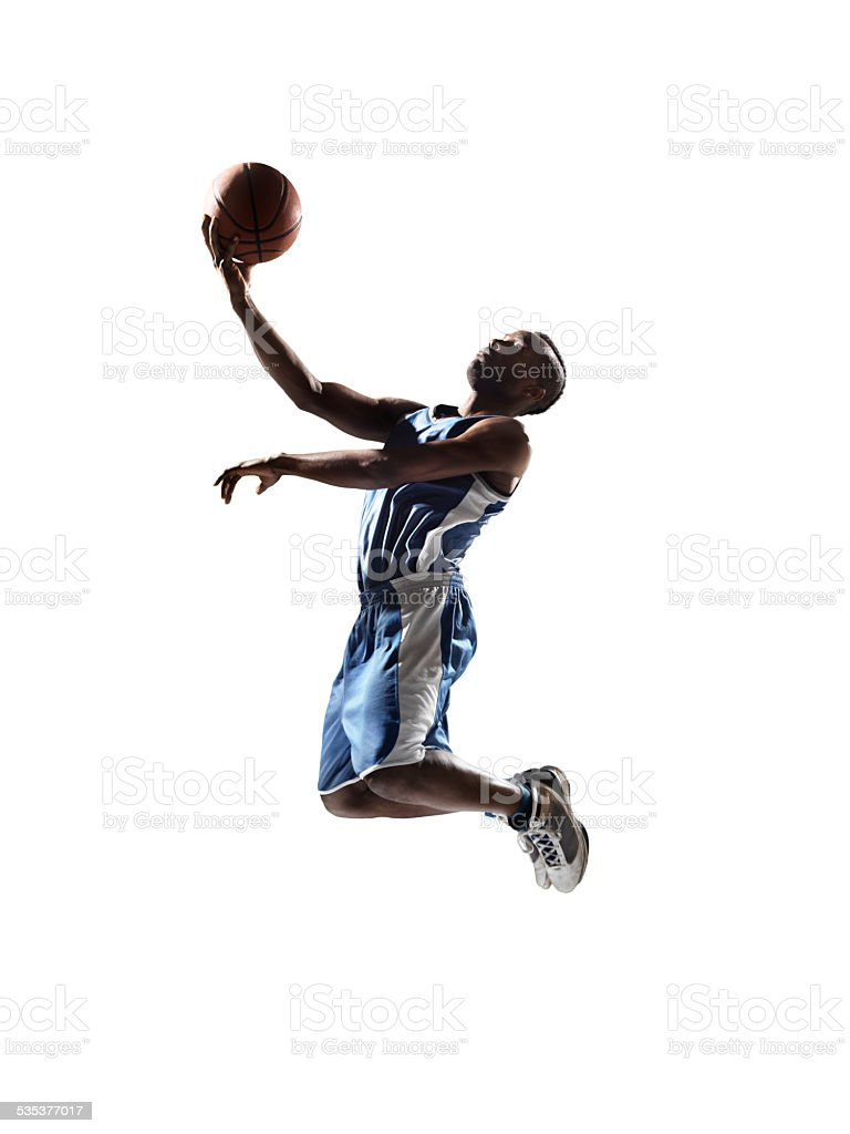 Isolated basketball player stock photo