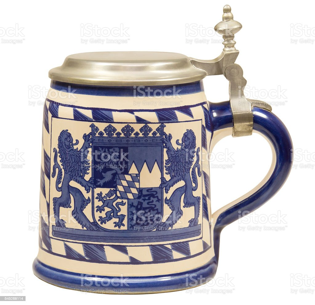 Isolated Bavarian Beer Stein II – Foto
