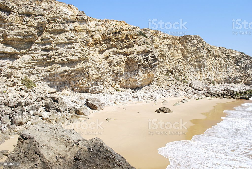 Isolated beach royalty-free stock photo