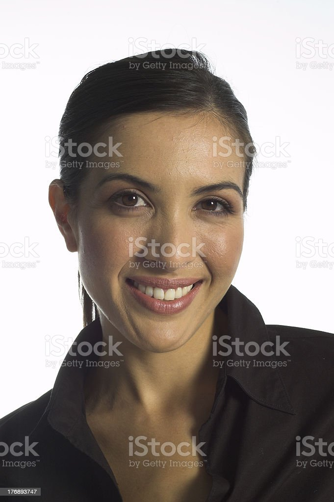 Isolated Beautiful Woman stock photo