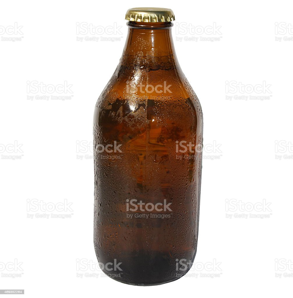 Isolated Beer Bottle stock photo