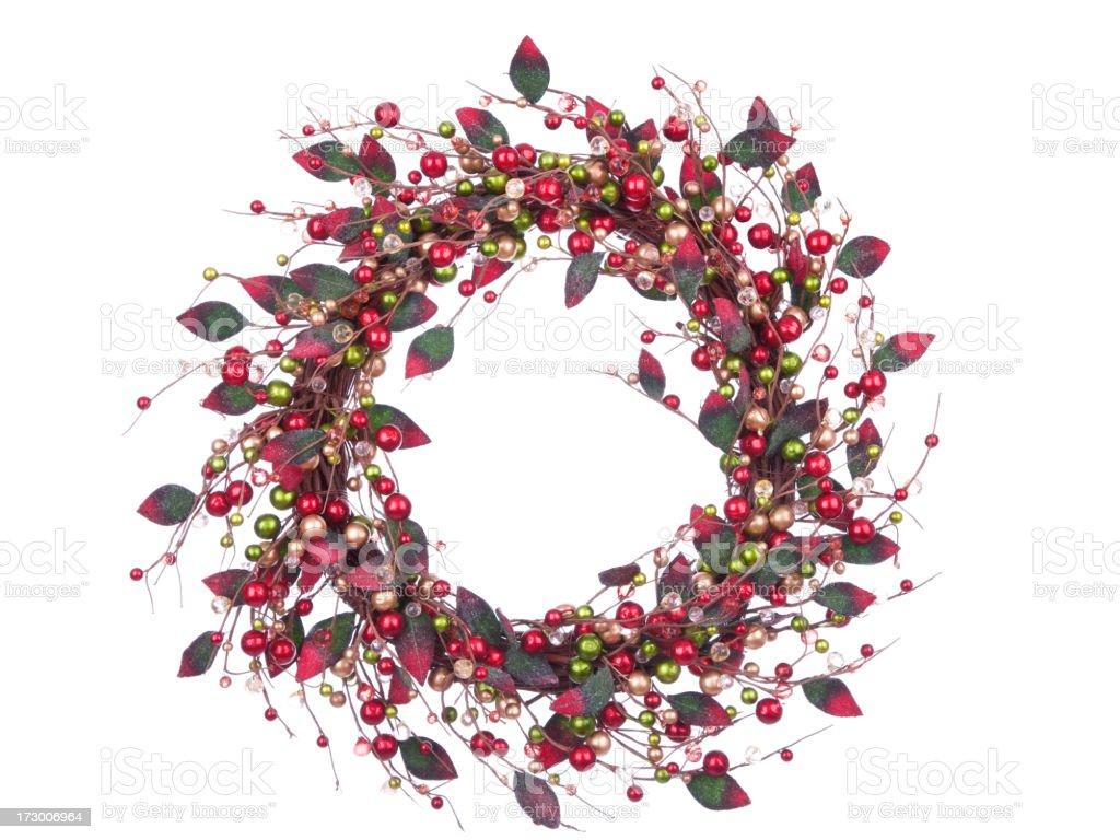 Isolated Berry Wreath (XXL) royalty-free stock photo