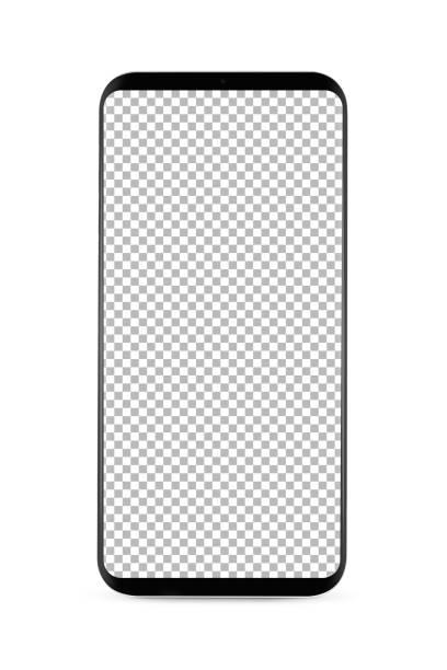 isolierte Lünette-weniger smartphone – Foto