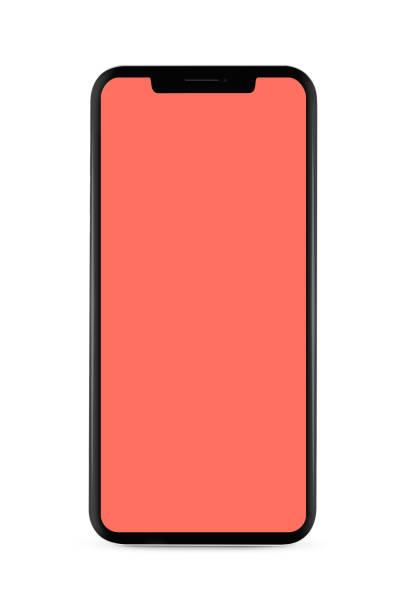 Isoliertes, bezelloses Smartphone – Foto