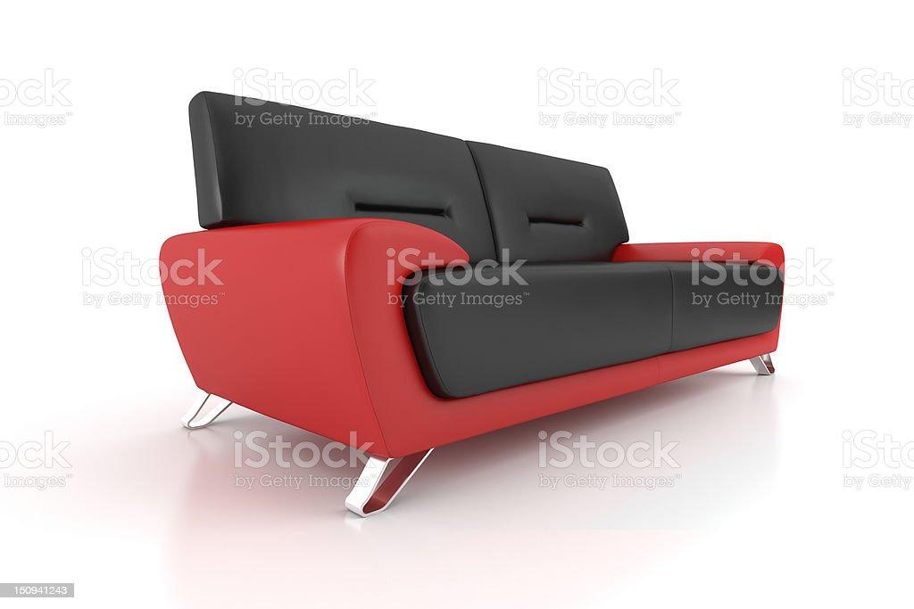 Isolated bicolor sofa royalty-free stock photo