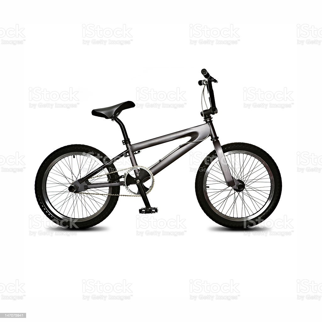 isolated bicycle stock photo