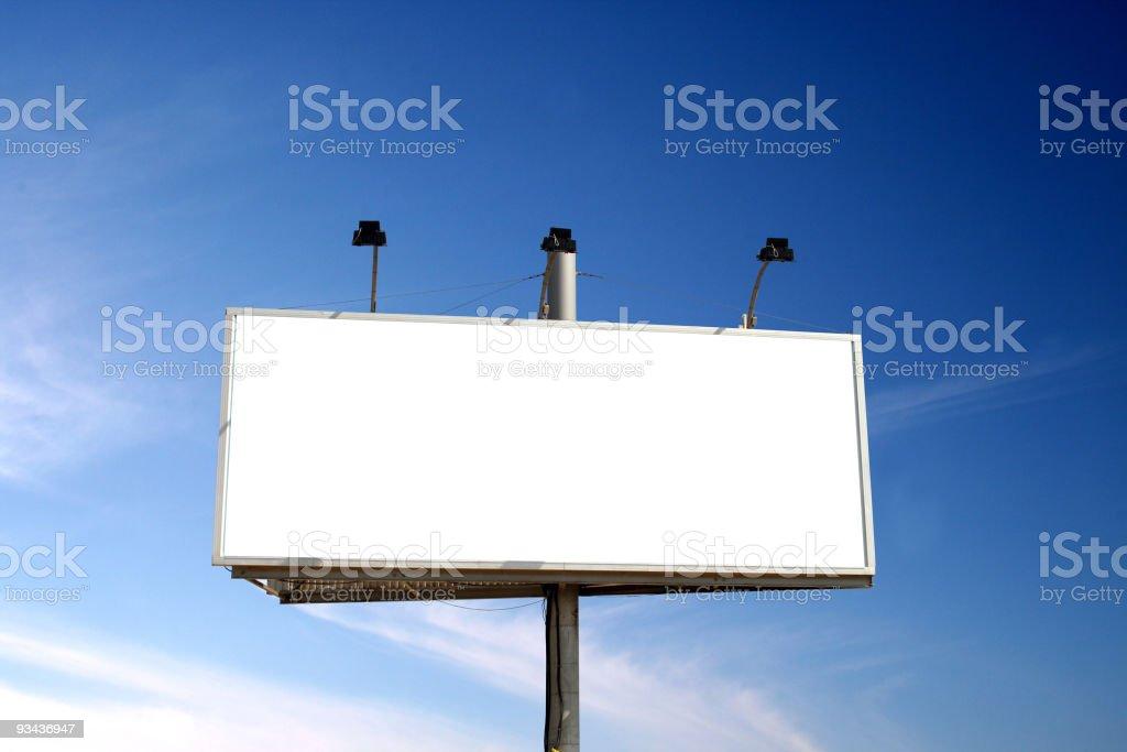 Isolated billboard royalty-free stock photo