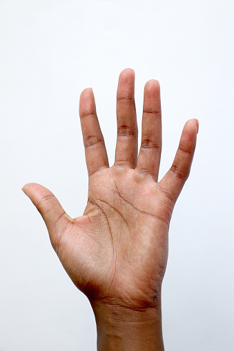 Isolated Black African Hand Counting On Fingers Stock Photo - Download  Image Now - iStock