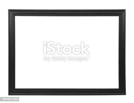 istock Isolated black picture frame 484901553