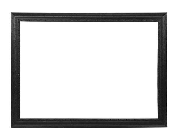 nero cornice per foto isolato - intelaiatura foto e immagini stock