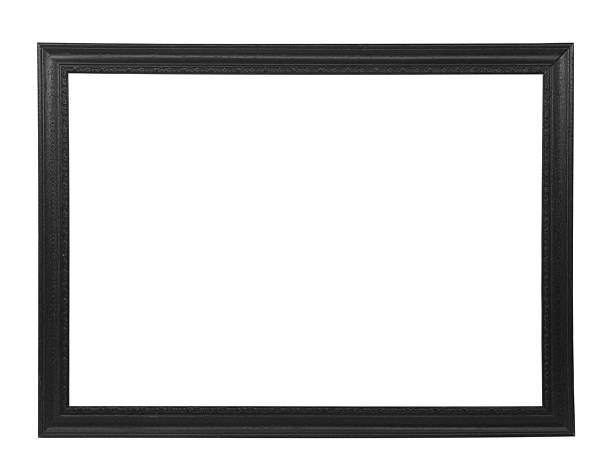 Isolated black picture frame stock photo