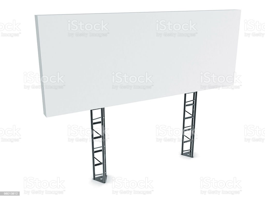 Isolated Blank Billboard royalty-free stock photo