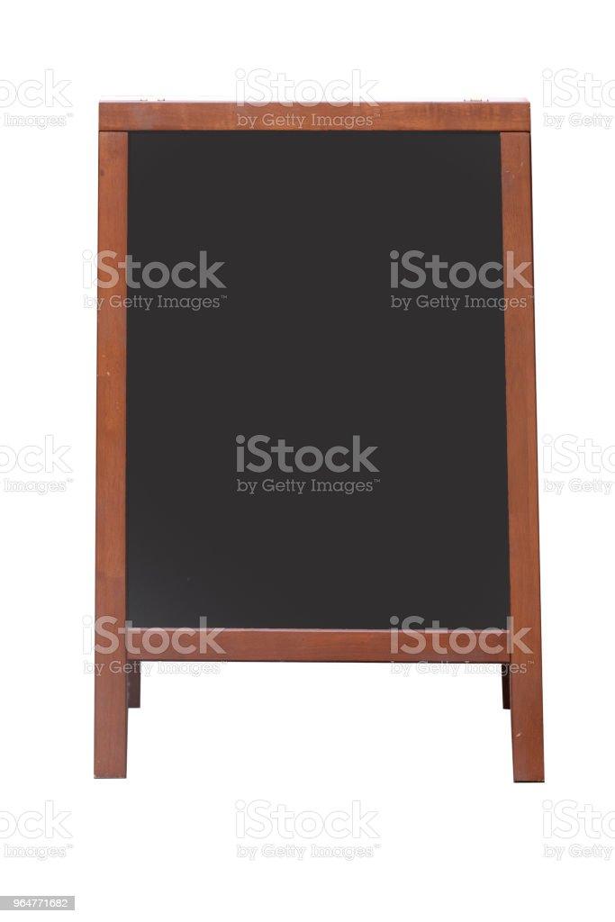 isolierten leeren Café-Menü-Tafel mit Exemplar auf weißem Hintergrund – Foto