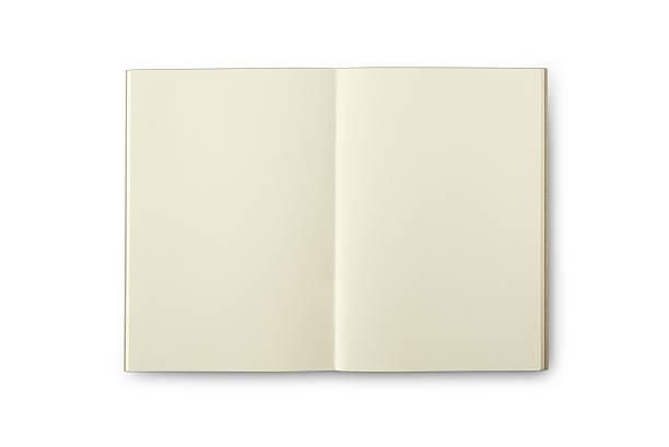 isoliert leere seite creamish farbe notebook - planner inserts stock-fotos und bilder