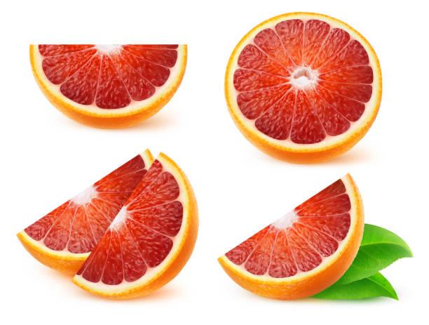 Isolated blood oranges stock photo