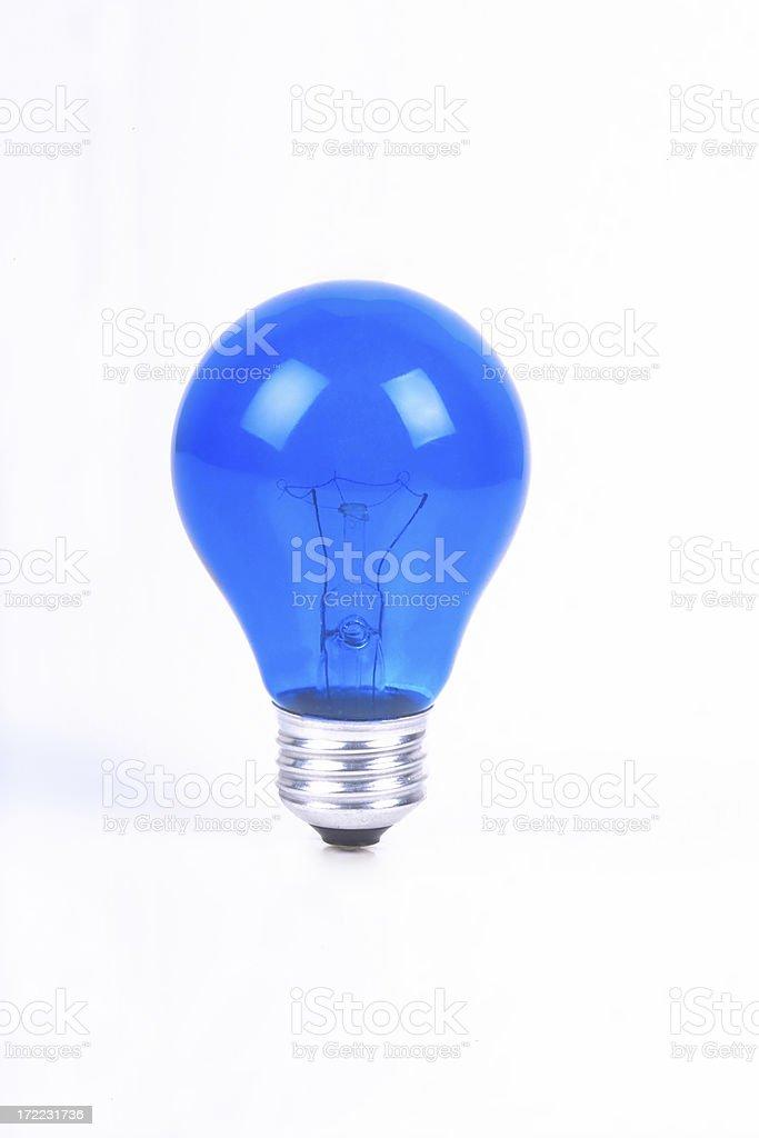 Isolated Blue Light Bulb royalty-free stock photo