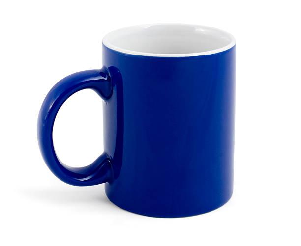 isolated blue mug stock photo