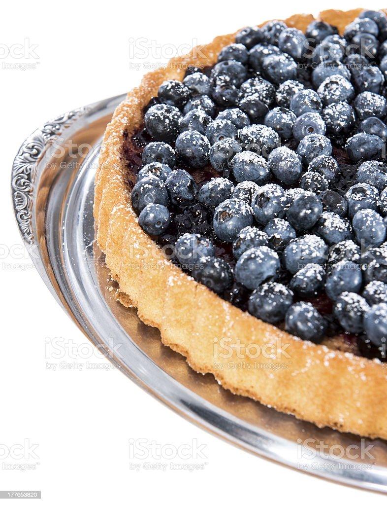 Isolated Blueberry Tart royalty-free stock photo