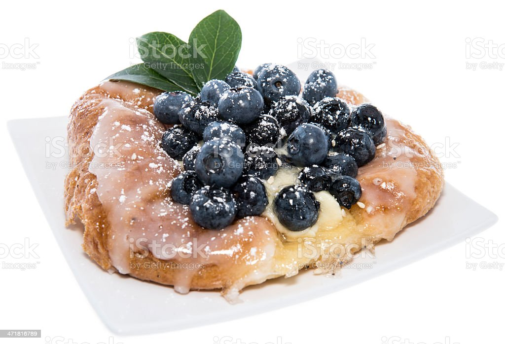 Isolated Blueberry Tart royalty-free stock photo
