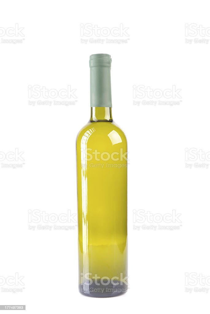 isolated bottle with white wine royalty-free stock photo