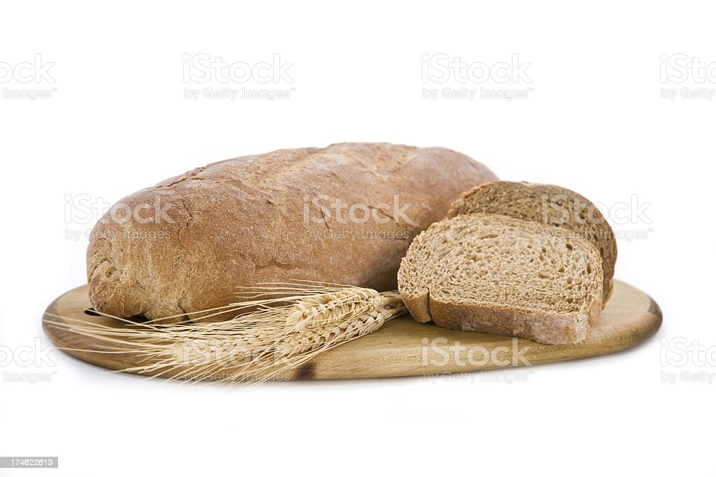 Isolated bread and wheat stock royalty-free stock photo
