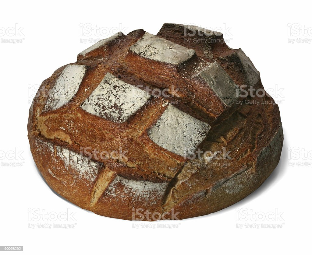 Isolated bread on white with path royalty-free stock photo