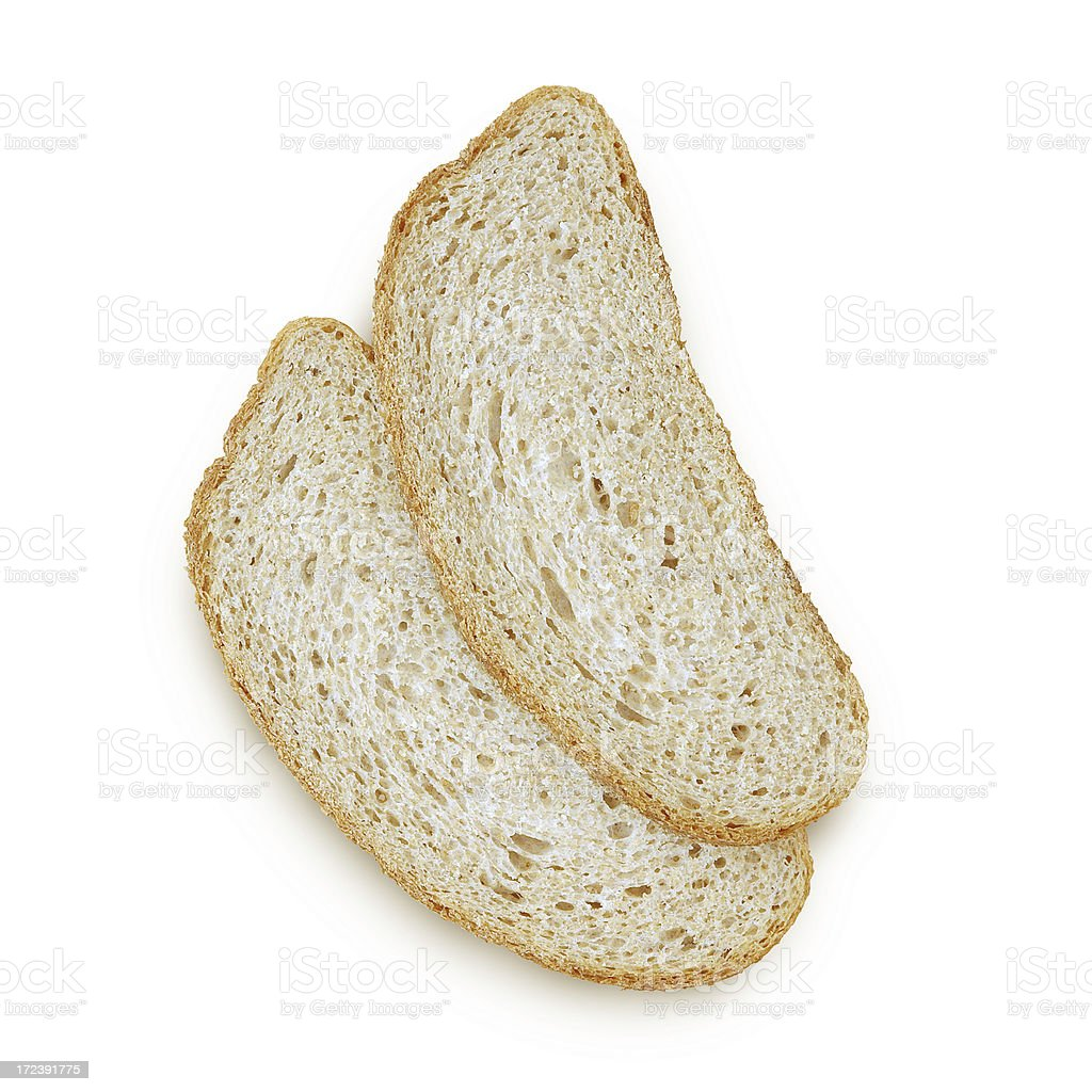 Isolated Bread Slices royalty-free stock photo