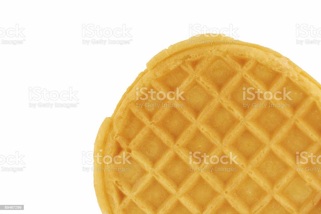 Isolated breakfast waffle royalty-free stock photo