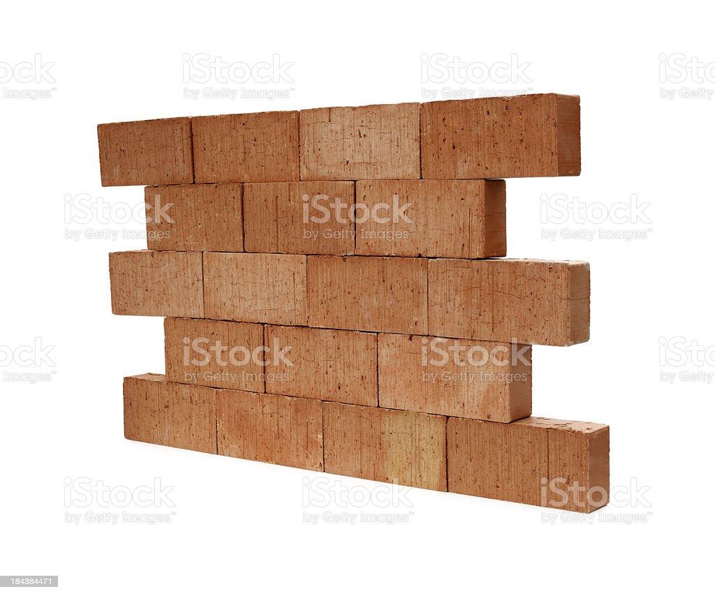 Isolated brick wall stock photo