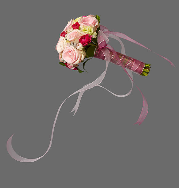 isolated bridal bouquet stock photo