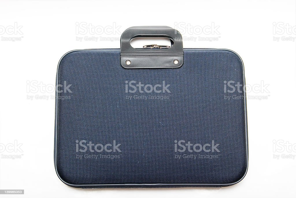 Isolated briefcase royalty-free stock photo
