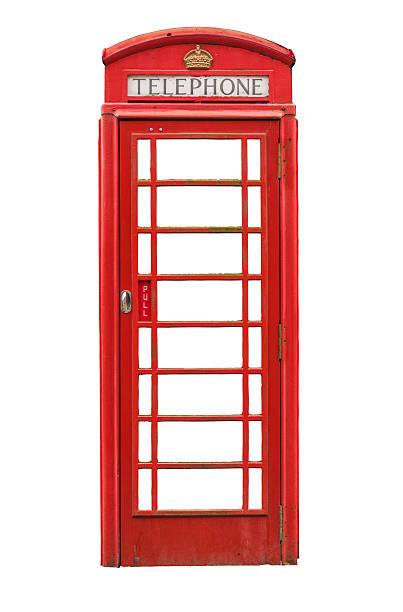 Isolated British Telephone Box stock photo