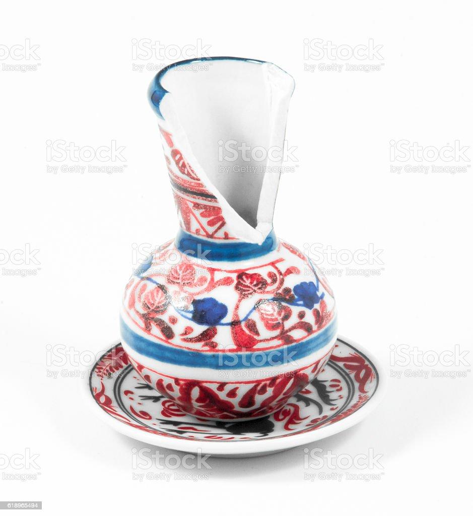 Isolated Broken Vase. stock photo