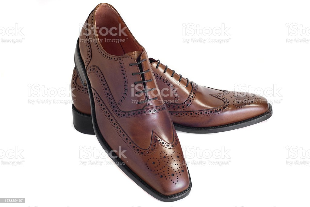 Isolated brown shoes stock photo