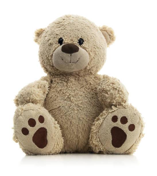 Isolated Brown Teddy Bear stock photo