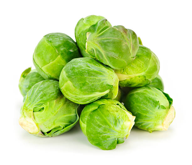 Isolated brussels sprouts  medium group of objects stock pictures, royalty-free photos & images