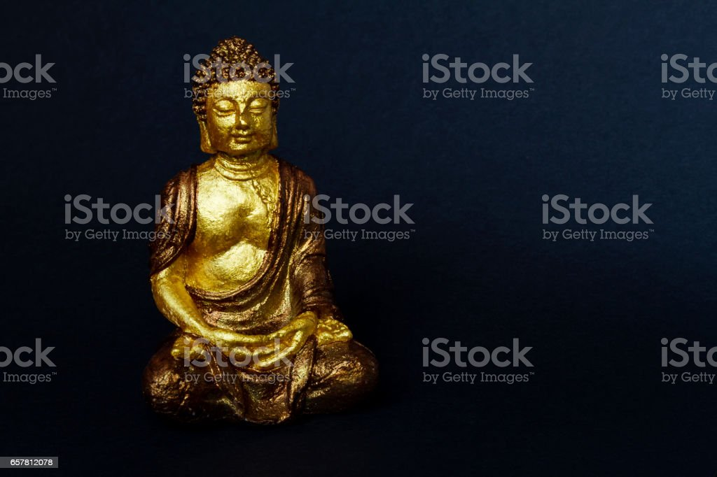 Isolated buddha figure stock photo