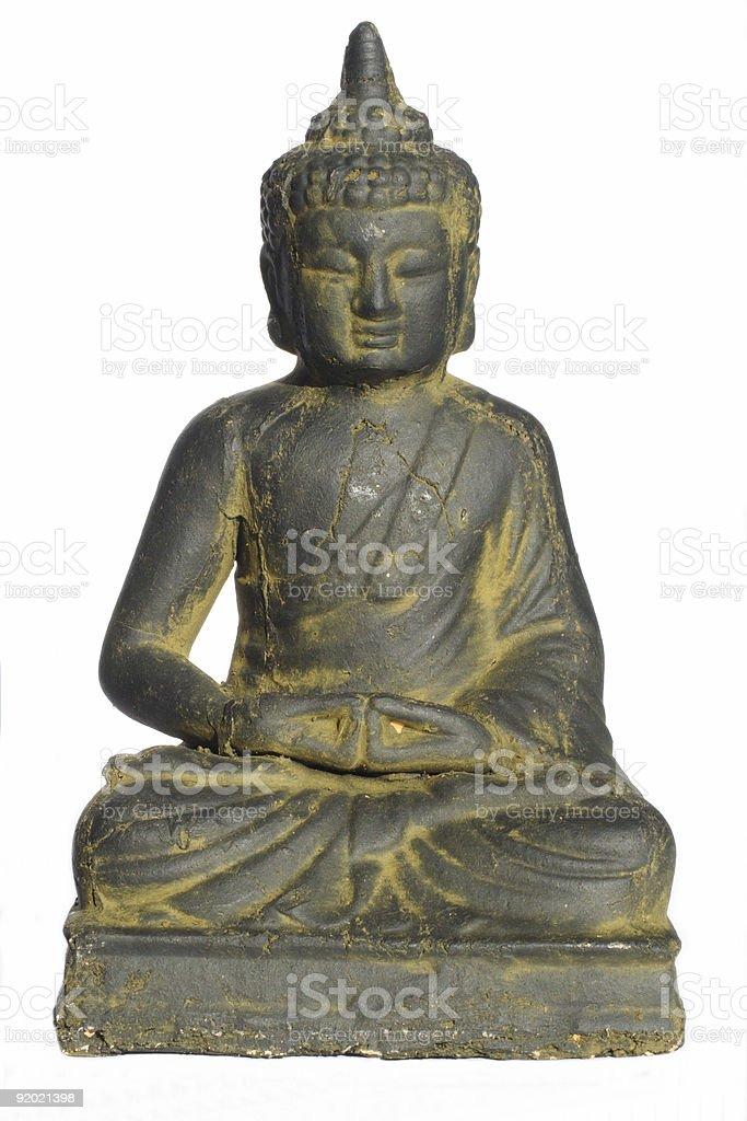 isolated buddha royalty-free stock photo