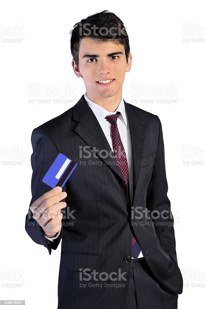 isolated business man stock photo