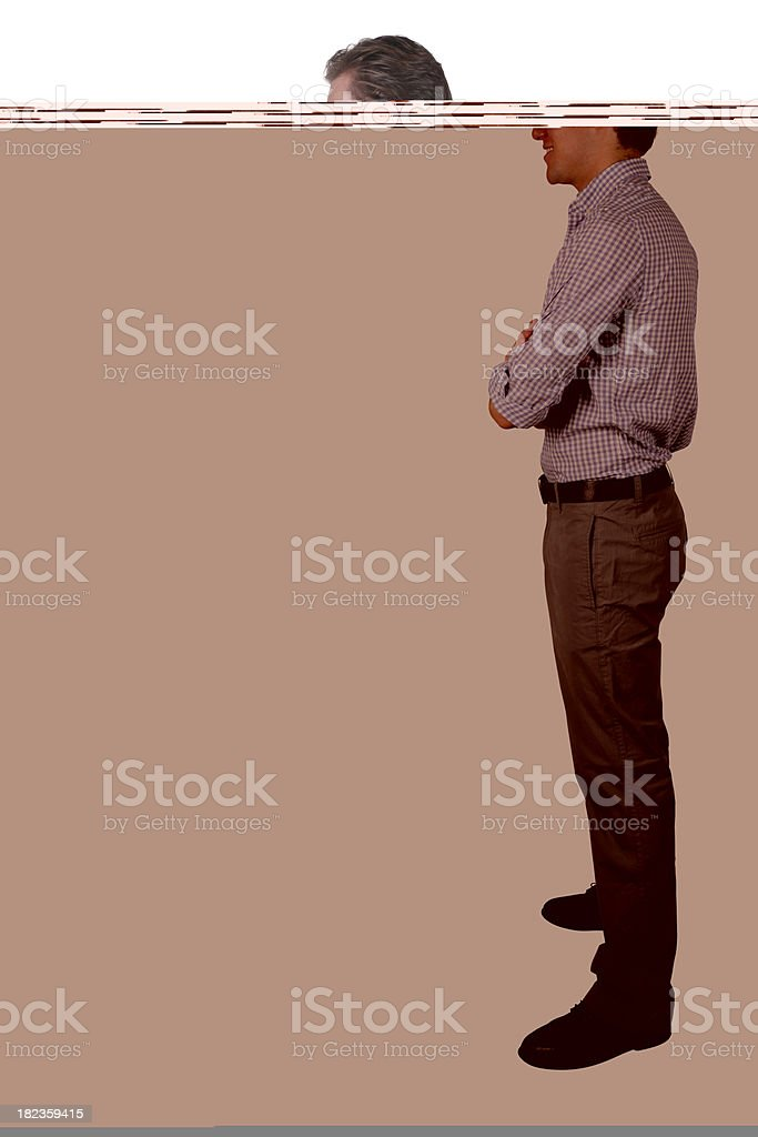 Isolated business man side view royalty-free stock photo