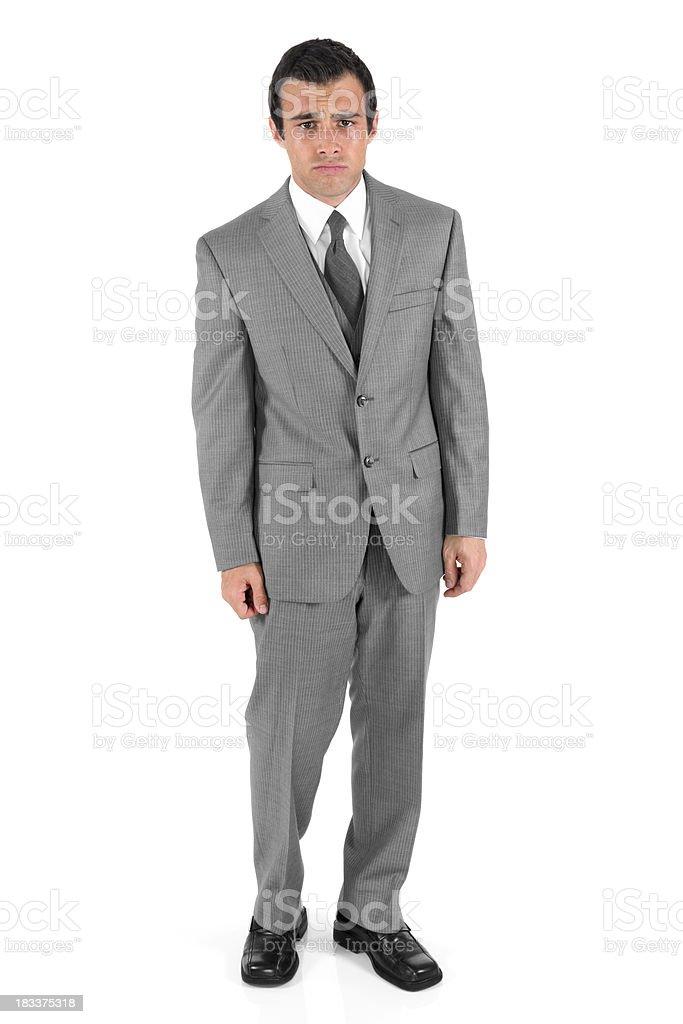 Isolated businessman sad and crying royalty-free stock photo