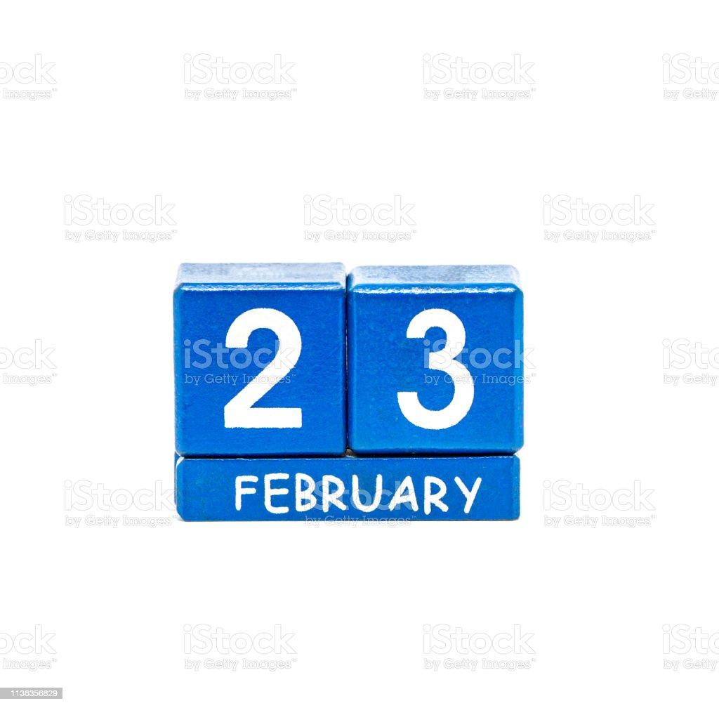 calendrier isolé de cubes sur un fond blanc - Photo