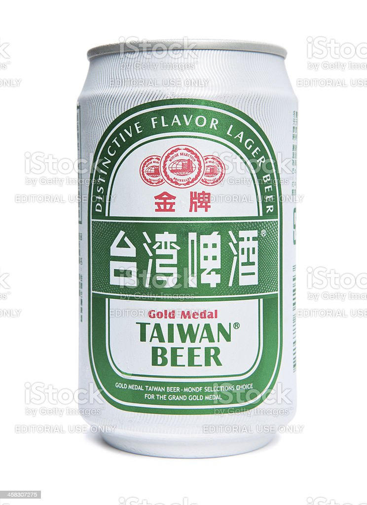 Isolated Can of Gold Medal Taiwan Beer royalty-free stock photo